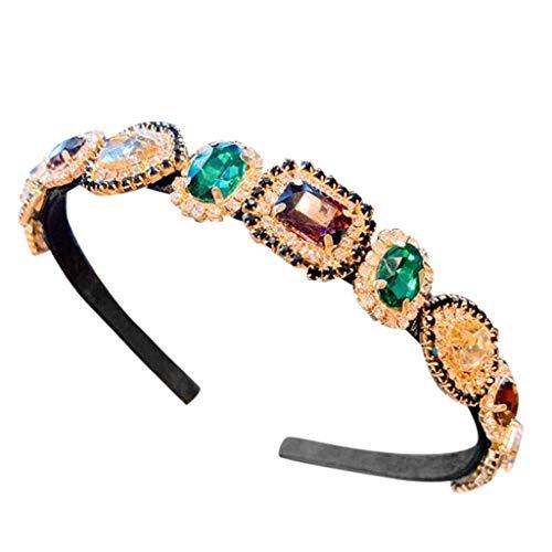 LARNOR Elegant Crystal Headband Jeweled Decorative Forehead Diamond Headband