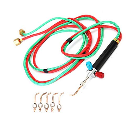 Micro Mini Little Torch Soldering Welding With 5 Tips,Funchic Hoses Mini Gas Little Torch Welding Soldering Kit for Jewelers Jewelery