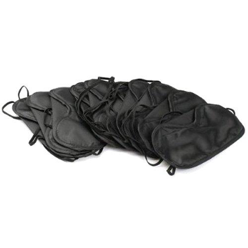 FreshGadgetz 10 X Antifaz Negro Para Dormir En Viaje con los ojos vendados