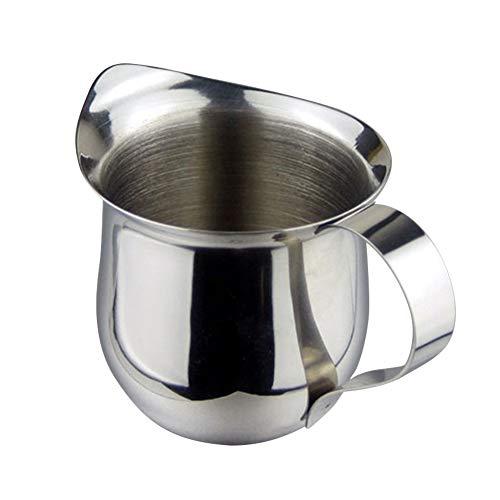 JAP768 1pc 60ml / 90ML / 150ML / 240ML Edelstahl Latte Art Pitcher Aufschäumen von Milch Krug Espresso-Kaffeetasse Barista Craft Cappuccino Tassen Pot (Farbe : 90ML)