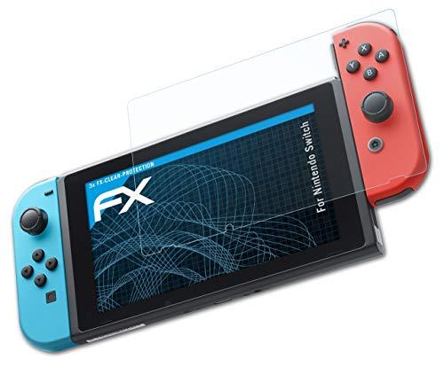 atFoliX Schutzfolie kompatibel mit Nintendo Switch Folie, ultraklare FX Displayschutzfolie (3X)