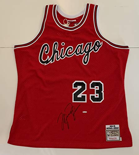 Michael Jordan Autographed Red Bulls Mitchell & Ness 1994-95 Rookie Jersey. Upper Deck Authenticated UDA COA