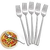 Dinner Forks, Set of 5 Top Food Grade Stainless Steel Silverware Forks, Table Forks, Flatware Forks,8 Inches, Mirror Finish & Dishwasher Safe, Use for Home, Kitchen or Restaurant