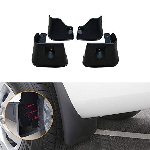 Muchkey no dril car mud Flaps for Toyota AXIO 2012 2013 2014 2015 2016 2017 2018 2019 Sedan Splash Front and Rear Guards 4pcs/Set