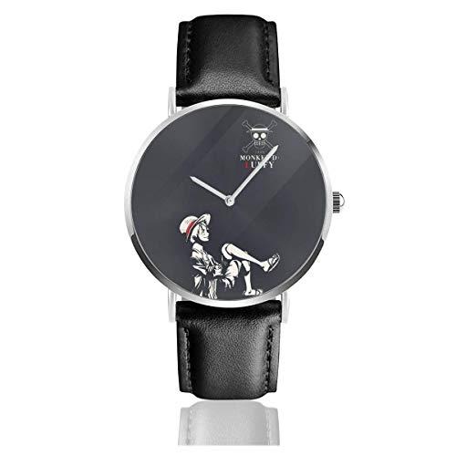 One Piece Monkey Ruffy Fashion Uhren Armband Lederarmband Ultra Thin Watch