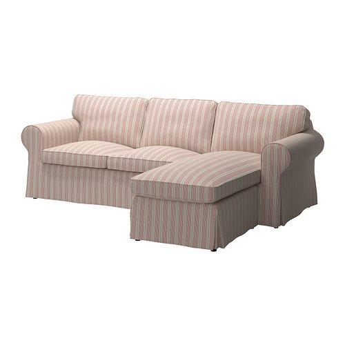 IKEA カバー 3シートセクション Mobacka ベージュ レッド 226.2655.3022