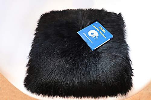 Reissner Lammfelle Engel Naturfelle Sitzauflage NADI-30-SCH aus Lammfell hochwollig quadratisch Fellmaß 40x40cm, schwarz