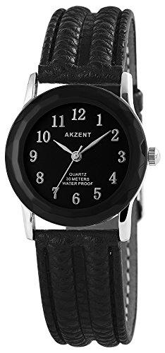 Akzent Herren Analog Quarz Uhr mit Leder Armband SS7321000013