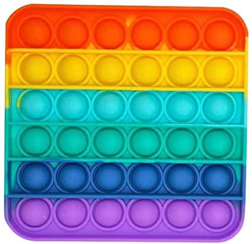 Winnel スクイーズ玩具 プッシュポップ フィジェットおもちゃ プッシュポップポップ バブル感覚 減圧グッズ ストレス解消 インテリジェンス発展 洗える可能 子供大人兼用 (四角い)