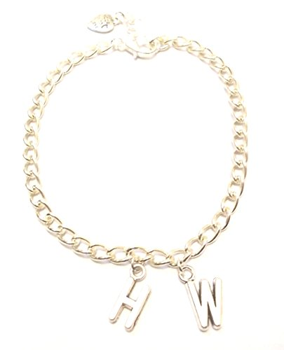 Hotwife (HW) silver curb chain charm bracelet/Anklet (7)