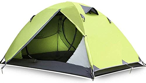 LAZ 2-3 Person Tent - Easy & Quick Setup Camping Tent, Waterproof & Windproof Fabric, with Mesh for Ventilation, Double Layer, Lightweight & Portable with Carry Bag, Outdoor Dome Tent