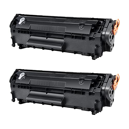 SSBY Reemplazo de Cartucho de tóner Compatible Q2612A 12A para HP Laserjet 1020 1022 1022N 1022NW 1010 1012 1015 1015 Impresora (2 Paquete)