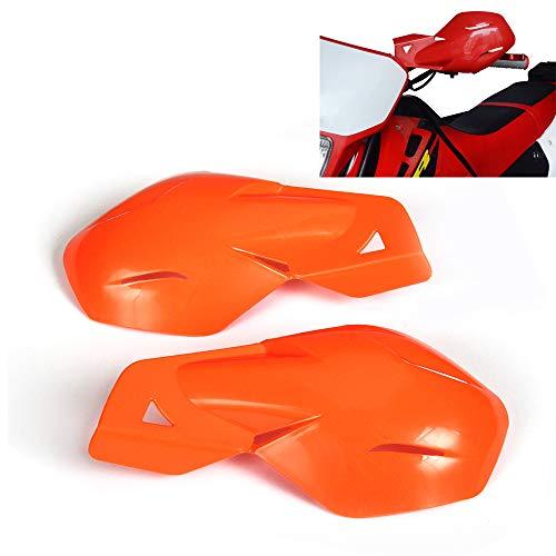 Un Xin Moto Protège-Mains gardes à la Main avec système de Fixation Universel 7/20,3 cm et 1 1/20,3 cm pour KTM MX EGS SMR 50 65 85 125 150 Enduro Dirt Bike Supermoto Racing Moto Sport (Orange)