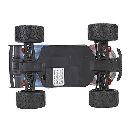Dilwe ferngesteuertes Auto Offroad, 2,4 GHz 4x4 4WD Geländewagen Auto, 1:18 Hoche Geschwindigkeit von 45 km/h RC Auto, Modell Mit Akku und USB-Ladekabel, Geschenk für Kinder / Erwachsene(Blau)