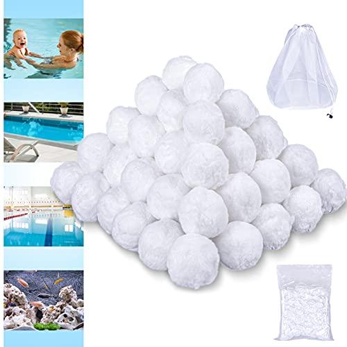 VAZILLIO 3.1 Lbs Pool Filter Balls, Eco-Friendly Fiber Filter...