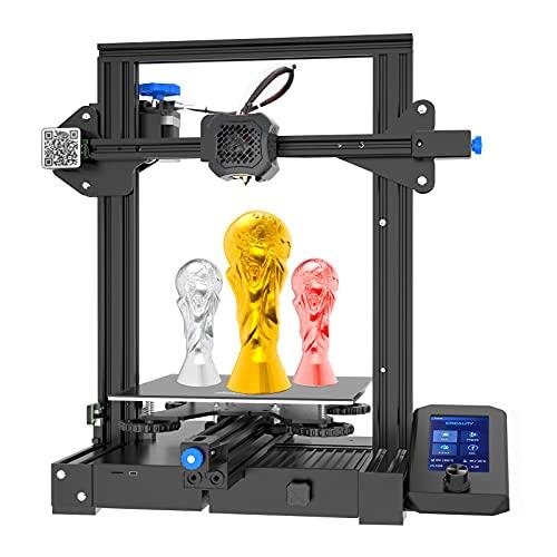 Creality Ender-3 V2 3D Drucker Upgrade FDM 3D Printer mit Silent Motherboard und Mute Printing, Carborundum Glass Platform, Meanwell Netzteil, Resume Printing, Create Volume 220x220x250mm