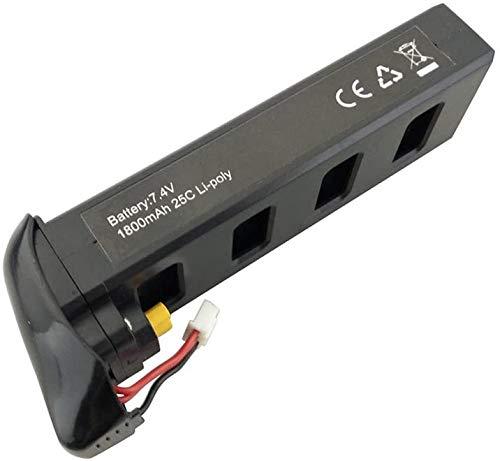 ZYGY 7,4V 1800mah Batteria al Litio per MJX B2C B2W B2 Bugs 2w Bugs 2 D80 F18 F200SE RC Quadcopter Drone (Nero)