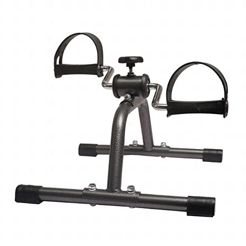 Mini bicicleta estática,parte superior e inferior del cuerpo ejercitador de pedales con resistencia ajustable,para entrenamiento de recuperación de pies piernas/Black / 41x46x25cm