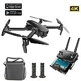 Qnlly GPS FPV Faltbare Drohne 4K Kamera mit 3-Achsen-Gimbal 4KM 23 Minuten WiFi APP-Steuerung, Bras Pliable RC Drone Quadcopter