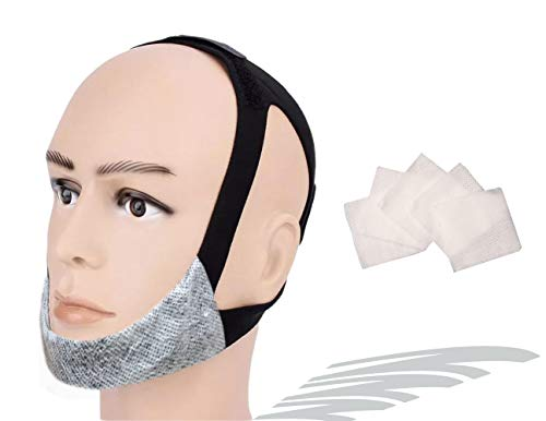 CPAP Chin Strap No Itchy No Odor No Stain, for Small to Medium Size, CPAP Supplies for Sensitive Skin, Non-invasive Anti Snoring Chin Strap wo Irritation, Open Mouth Breathing Prevention Strap