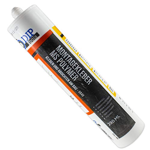 DIP-Tools Universal-Montagekleber - extra stark zum Kleben und Dichten (2x290ml, grau)