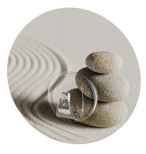 WENKO 20956100 Static-Loc wandhaken Uno zand and stone, bevestigen zonder boren, polyethyleentereftalaat, 8,5 x 2 x 8,5 cm, meerkleurig