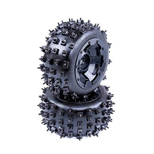 Ctzrzyt Stra?En Reifen mit Radnaben Set für 1/5 PS Rovan für Baja 5B SS 5B ?Dland-Offroad Reifen EIS und Schneestra?En