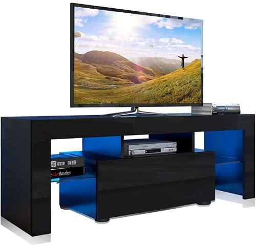 Modern LED TV Cabinet TV Stands LED Entertainment Center for Gaming...