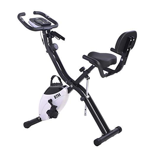Zebery G500 plegable ciclismo bicicleta ejercicio interior entrenamiento X bicicleta para el entrenamiento cardiovascular casero, con volante y bandas de resistencia de brazo