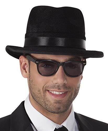 Schwarze Sonnenbrille Coole Gangster Brille Kostümzubehör Partybrille Mafia Mottoparty