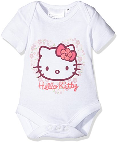 Twins Hello Kitty 1 011 46-Body Bebé-Niñas Weiß (weiss 4013) 18 meses