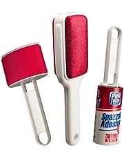 SET de cepillos para la limpieza de la ropa, sofás, alfombras: Cepillo adhesivo con 36 hojas precortadas, longitud 5 metros, cepillo de terciopelo doble, cepillo para lana.