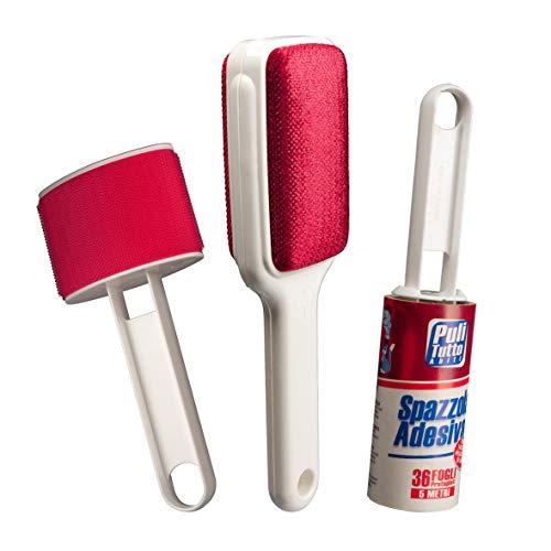 SET de cepillos para la limpieza de la ropa, sofás, alfombr
