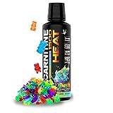 VMI Sports L-Carnitine Liquid Heat 1500 Thermogenic Fat Burner, Gummy Bear Flavor, 31 Servings, Boost Metabolism & Energy, Caffeine-Free, Weight Loss