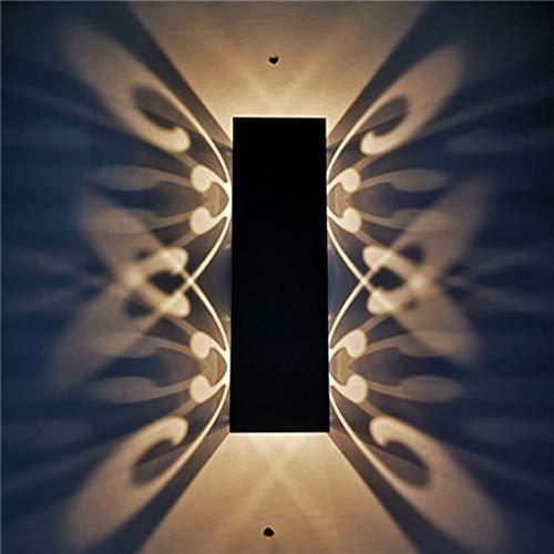 JminJC Applique Murale à Papillon à Deux Têtes Applique Murale pour Couloir De Couloir De Décoration De Fond Intérieur Rectangulaire,WarmLight