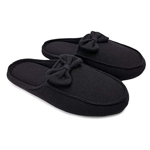ofoot Pantofole Indoor da Donna, Slip in Cotone Organico su Scarpe Antiscivolo per la Maternit