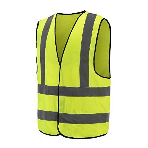 Auto Warnweste, Sicherheitsweste, Pannenweste für Auto, Fahrrad, Waschbar, arbeschutzkleidung (XL, Gelb)
