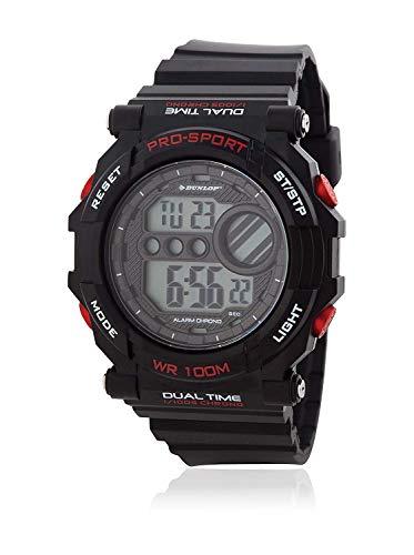 Dunlop Reloj Digital para Unisex Adultos de Cuarzo con Correa en Caucho DUN234G07