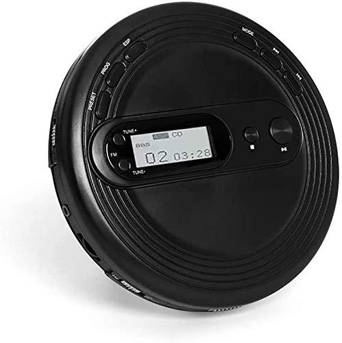 J & J Reproductor de CD portátil con Bluetooth, Reproductor de CD LCD para Adultos Equipo estéreo Pequeño Estudiante Oficina Walkman CD Auriculares de Calidad de Sonido Educación Prenatal para niños