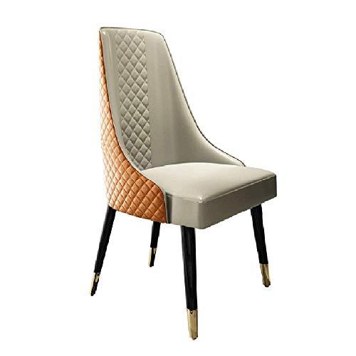 YINGGEXU Silla de comedor Sillas de comedor silla de comedor PU persona Estilos Urban Kitchen parte acolchada silla con las piernas de madera maciza for las sillas de cocina (color, tamaño: 55