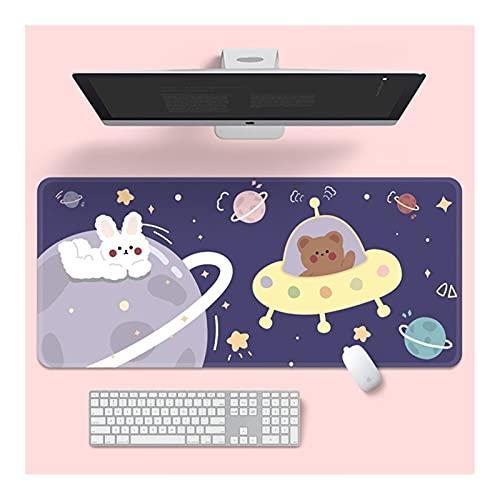 Alfombrilla de Escritorio 30 * 80 cm Cojín de ratón lindo Super Creative Game Game Large Teckeboard Office Mesa larga Mesa de mesa Kawaii Escritorio para las niñas adolescentes para el dormitorio alfo