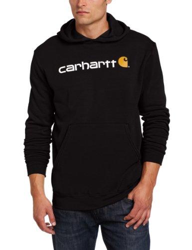 Carhartt .100074.001.s004 Signature Logo Sweat à Capuche, Couleur : Noir, Taille : Petite