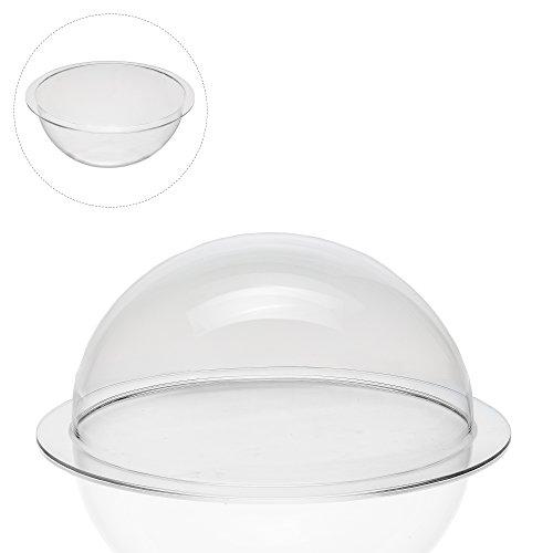 Acrylglas Plexiglas Halbkugel mit 250 mm Durchmesser und umlaufender Krempe, transparente Kunststoff-Kugel als hochwertige Acrylkuppel mit vielseitigen Anwendungsmöglichkeiten