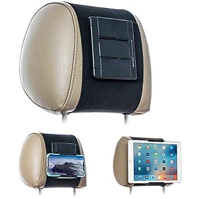 Compatible con tabletas y smartphones con o sin fundas. Funciona bien con Apple iPhone, iPad Air, Samsung Galaxy, Tab, Nintendo Switch y otras tabletas con un ancho de 19 cm (es decir, tamaños de pantalla de 5 a 10,5 pulgadas). Instalación rápida y s...