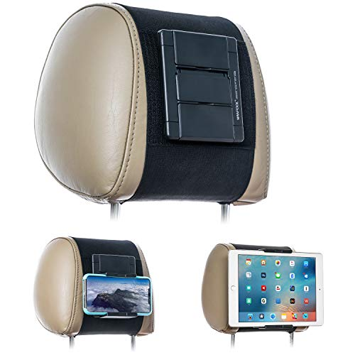 WANPOOL - Soporte para reposacabezas de Coche para Tablets y teléfonos con Pantallas de 5 a 10,5 Pulgadas - Apple iPhone iPad Air Mini, Samsung Galaxy, Nintendo Switch