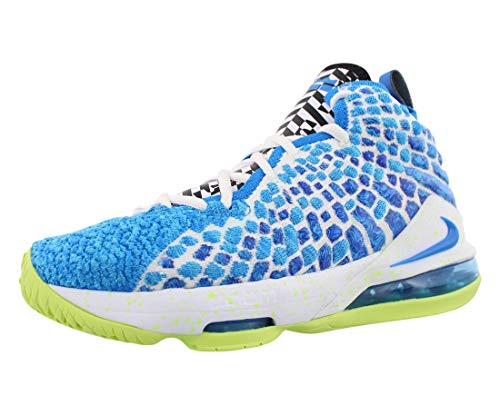Nike Lebron XVII GS Boys Shoes Size 6.5, Color: Photo Blue/Photo Blue