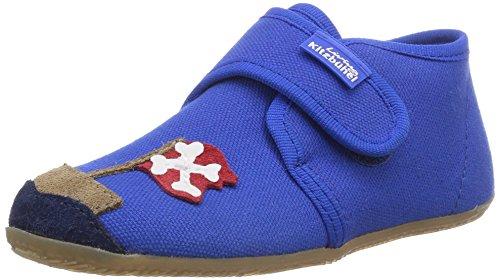 Living Kitzbühel Baby-Jungen Babyklettschuh Pirat & Teddy Lauflernschuhe, Blau (Blue Coral 563), 20 EU