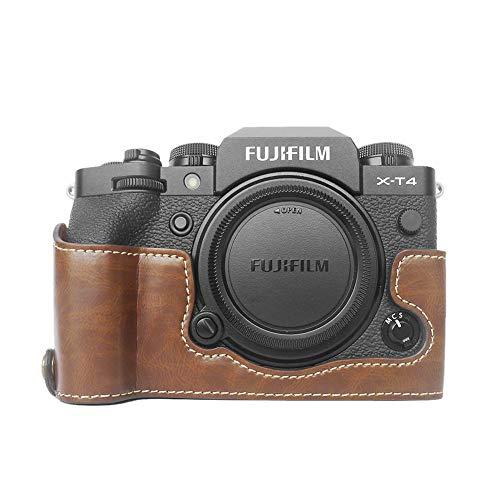 FUJI X-T4 Hülle, MUZIRI KINOKOO PU Leder Tasche kompatibel mit Fujifilm X-T4 Kamera, Schutzhülle für XT4 Half Case FUJI XT4 Grip Case