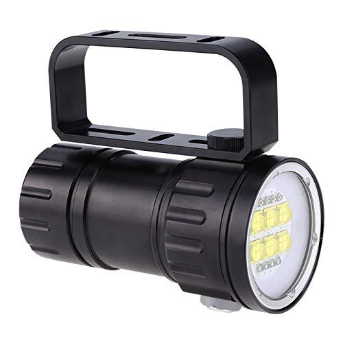 Tauchlampe 28800 Lumen LED Tauchtaschenlampe IPX8 Wasserdicht Unterwasser 80 M Taschenlampe Rot Blau Weiß Licht Fotografie Fülllampe mit Ständer