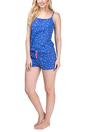 Good Deal Market Damen Einteiler kurz blau Nachtwäsche 36-38/S Strandanzug Freizeit Kleidung Frauen Mädchen Sommer
